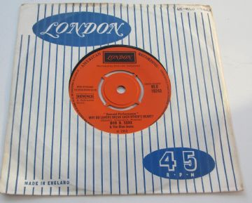 "Bob B Soxx & The Blue Jeans WHY DO LOVERS BREAK EACH OTHERS HEARTS / ZIP-A-DEE-D00-DAH 1963 UK 7"" NM"